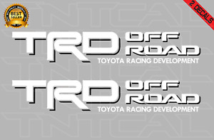 Trd Offroad Decal Set Toyota Tacoma Tundra Truck Bed Vinyl Sticker White black