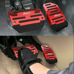 2pcs Universal Non slip Automatic Gas Brake Foot Pedal Pad Cover Car Accessories