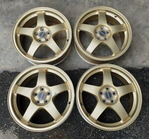 17 Rays S201 Re B51 Wheels 22b Rs Zero Sti Forged For Sf5 Subaru Impreza Gc8