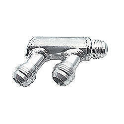 Peterson 10 0002 Fitting Y Block 16 An Male Inlet Dual 12 An Male Outlets Al