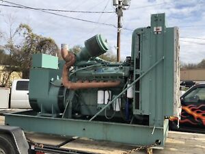 400kw Detroit Diesel Lima Gm Continuous Duty Generator 480v 3ph 12 Lead Can Ship