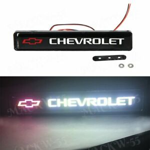 For Chevrolet Logo Led Light Car Front Grille Badge Illuminated Decal Sticker