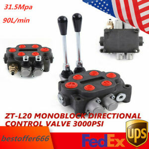 2spool Hydraulic Directional Control Valve 3000psi Motor Double Acting Monoblock