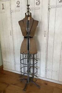 Pat 1908 Vintage L m Adjustable Acme Dress Form Size A Victorian Cast Iron Base