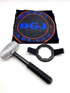 6lbs Wire Wheel Knock Off Lead Hammer Hex Wrench And T shirt