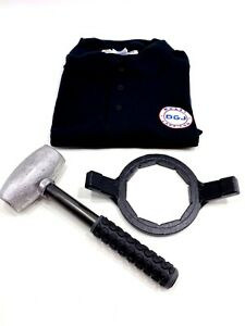 6lbs Wire Wheel Knock Off Lead Hammer Bullet Wrench And Embroidered Polo Shirt