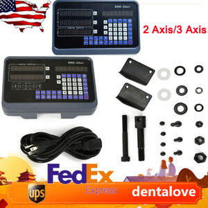2 3 Axis Dro Digital Readout Display For Milling Lathe Machine Linear Scales Usa