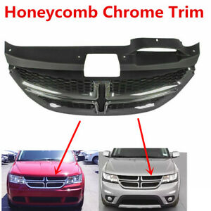 Fit For Dodge Journey 2011 2020 Front Upper Center Honeycomb Chrome Grill Grille