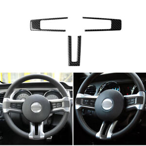 Carbon Fiber Accessories Steering Wheel Trim Fit For Ford Mustang Gt 2009 2013
