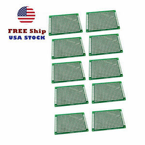 10pcs Double Side 4x6 Cm Prototype Universal Pcb Board Fr 4 Glass Fiber Us Ship