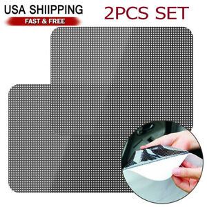 2pcs Car Sun Shade Cover Rear Window Side Block Static Cling Visor Shield Screen