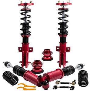 24 Ways Damper Coilover Absorbers For Ford Mustang Red Shocks Struts 2005 2014