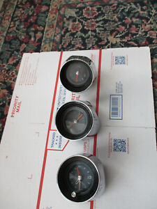 1965 Pontiac Grand Prix full Size Clock gauges Oem