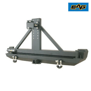 Eag Fit For 84 01 Jeep Cherokee Xj Rear Bumper W Tire Carrier Hitch Receiver