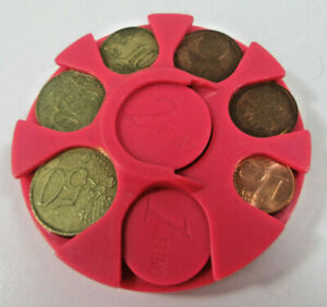 Plastic Euro Coin Holder Change Sorting Container European Union