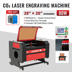 Omtech 40w 12 x 8 Cutting Engraving Marking Machine Co2 Laser Engraver Cutter