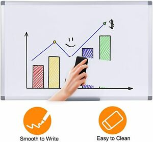 1 2 Pack Magnetic Whiteboard 36 X 24 Inch Dry Erase White Board Wall Board Gifts