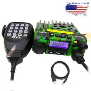 Qyt Kt8900 Dual Band Vhf uhf Car Mobile Radio Transceiver 25w 200ch Usb Cable