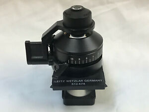 Leitz Microscope Condenser Part No 513474 Achr 0 90 S1 1 Swing Out Dialux