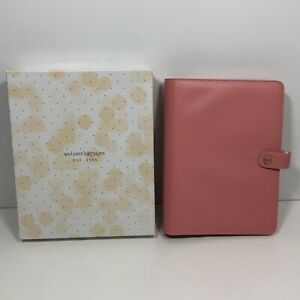 Websters Pages A5 Planner 6 Ring Binder Pink Fits 5 75 x8 25 Inserts Keychain