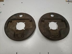 Original 1939 1940 1941 Ford Front Backing Plates Brakes