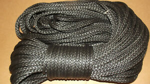 New 3 8 x 100 Dyneema Winch Line Synthetic Pulling Rope 12 strand Braid