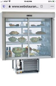 New Delfield F5mc48dv 48 Drop in Refrigerated Display Case With Mirrored Back