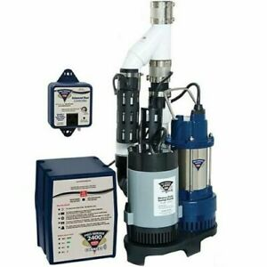 Pro Series Ps c33 1 3 Hp Combination Primary Backup Sump Pump System