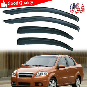 For 07 2011 Chevrolet Aveo 4dr Vent Window Visor Rain Guard Weather Shield Kit