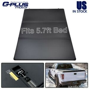 Fit For 2009 2021 Dodge Ram 1500 Truck 5 7ft Bed Tri Fold Hard Tonneau Cover New
