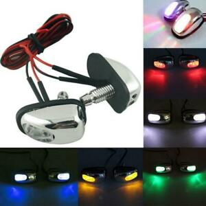 Pair Car 7 Color Led Light Wiper Hood Windshield Water Spray Nozzle Washer