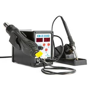 Smd Soldering Iron Hot Air Rework Station 898d Digital 2 In 1 W 11 Iron Tips