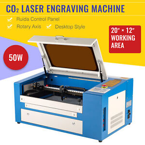 Co2 Engraving Cutting Laser Machine Engraver Cutter Rotary Device 50w 20 12