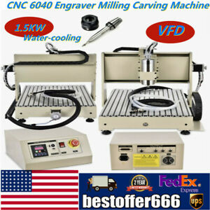 3 Axis Router Cnc 6040 1500w Vfd Engraver Milling Carving Machine Woodworking