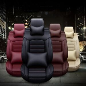 Full Set Car Leather Cushions 5d Auto Seat Covers Front Rear