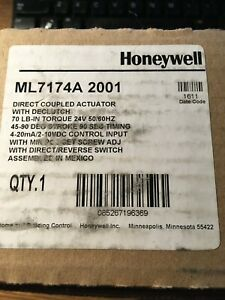 Honeywell Direct Coupled Actuator With Declutch Ml7174a 2001 New