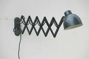 Vintage Industrial Bauhaus 20th Century Wall Mounted Scissor Lamp