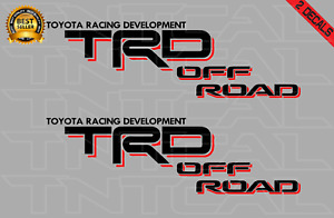 Toyota Trd Offroad Decal Set 2007 Tacoma Tundra Truck Vinyl Sticker Black red