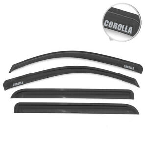 For 93 97 Toyota Corolla Sedan 4dr Window Visors Smoke Rain Shade Guard