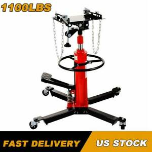 Professional Hydraulic Transmission Jack 1100lbs 0 5 Ton 2 Stage For Car Lift Us