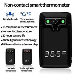 Wall Mount Digital Voice Infrared Thermometer Automatic Non Contact Fahrenheit