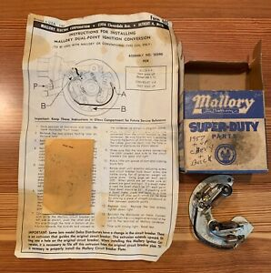 Mallory Dual Point Ignition Conversion Nos 25590 For 1957 And Chevy Buick V 8