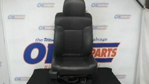 2011 Ford F150 Lariat Passenger Right Front Seat Black Leather Heated Cooled