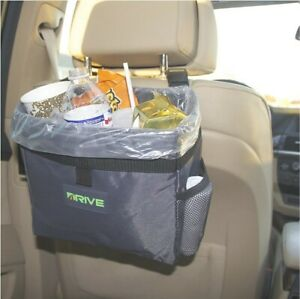 Drive Auto Products Car Trash Can With Liner Medium Black Strap