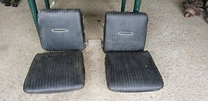 1967 Dodge Charger Rear Bucket Seat Fold Down Levers Top Bottom Very Nice Clean