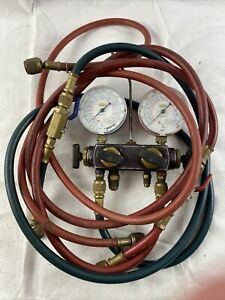Refco Manifold Dual Scale Gauges M4 3 deluxe 4 way Charging Service Testing