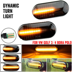 2pcs Dynamic Side Led Turn Signal Light For Vw Bora Golf 3 4 Passat 3bg Polo Sb6