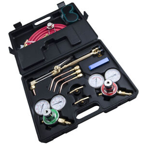 Gas Welding Cutting Kit Oxygen Acetylene Brazing Fit Victor Hose Wrench