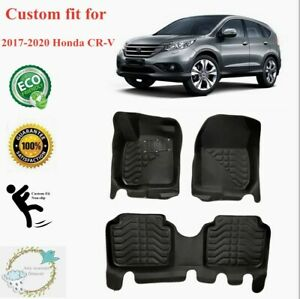 Fit For Honda Crv 2017 2019 Floor Mats Liners Xpe All weather Black