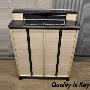 Art Deco The American Cabinet Co Dental Medical Cabinet With Milk Glass Trays